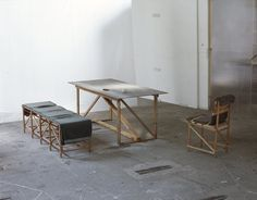 Rough and Ready, Collections, Studio Tord Boontje  nice straps on the bench