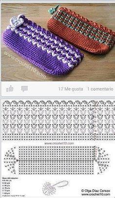 Knitting stitches patterns projects free crochet ideas for 2019 Crochet Pouch, Crochet Purse Patterns, Diy Crochet, Stitch Patterns, Crochet Gifts, Crochet Backpack, Bag Patterns, Pattern Ideas, Free Pattern