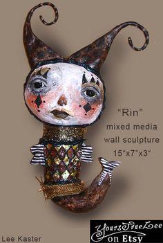 Wall Sculpture Art Doll
