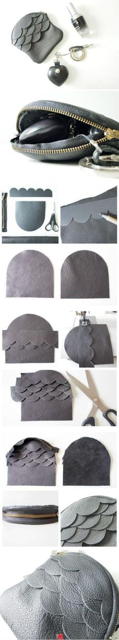 Darling clutch.  Must try to make this.