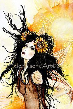 Summer Solstice Faerie  by Helenfaerieart
