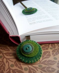 Colorful Warmth DOUBLE-SIDED felt bookmark by soleilgirl on Etsy