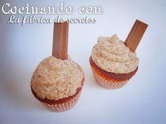 Receta cupcakes de kitkat