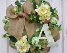 Summer Wreath Spring Wreath Burlap Mesh Wreath by JennaBelles