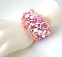 Romantischen Perlen Armband Seed Perlen Armband Freeform von ibics