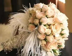 blush bouquet. sub with gold wrap