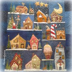 I have this pattern - maybe I will get round to making it one day :) I love the whimsy!  Happy town to live in!