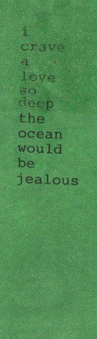 The Ocean Would Be Jealous