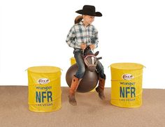 KIDS BARREL RACING BARRELS Little Cowgirl, Cowgirl And Horse, Sheriff Callie Toys, Barbie Horse, Las Vegas, Plush Horse, Rodeo Events, Horse Games, Bull Riders