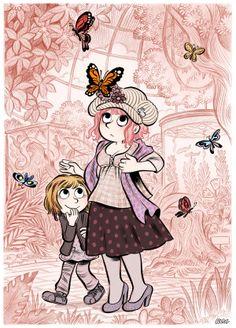Chapeau fleuri et papillons en liberté…