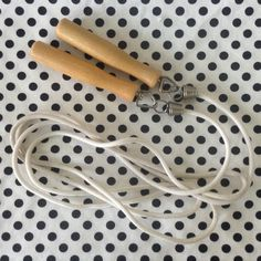 C.1970's~Jump Rope~Wooden Handles by RubyJeanRummage on Etsy