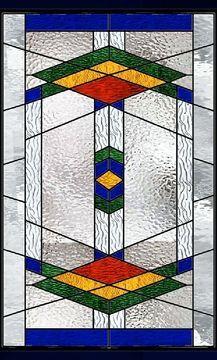 geometric southwest stained glass window