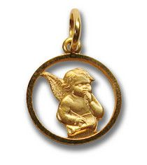 "ANGEL CHARM 1/2"" $150.00 Found in an estate sale - this angel charm is sure to bring sweetness into your life.  14K yellow gold."