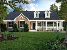 Eplans Country House Plan - Country Style With Terrific Porches - 1965 Square Feet and 3 Bedrooms from Eplans - House Plan Code HWEPL60582