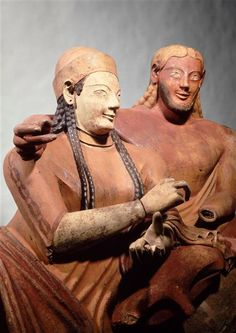 The Etruscan Sarcophagus of the Spouses (detail) displayed at Louvre Museum, Paris Source by schlgr Historical Artifacts, Ancient Artifacts, Ancient Rome, Ancient History, Sarcophagus Of The Spouses, Art History Lessons, History Facts, Statues, Art Antique