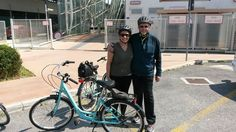 From #Boston to explore the Lagoon by bike. Thanks to Alisa and Benjamin for joining us on a bike tour.