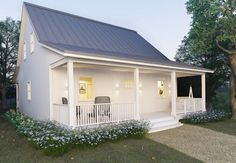Browse 30 cottage style house plans you'll want to own. The Architecture Designs bring the latest collection of cottage style house plans that you'd love to own one. Small Farmhouse Plans, Small Cottage House Plans, Small Cottage Homes, Cottage Floor Plans, Modern Cottage, Cottage Style Homes, Country House Plans, Cottage Design, Cottage Farmhouse
