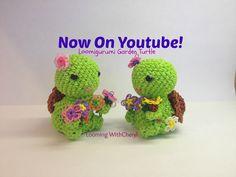 Rainbow Loom Garden Turtle - Loomigurumi - Looming WithCheryl