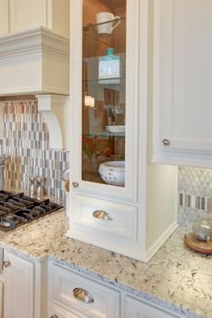 Lakeside DFW model home in Flower Mound, Texas - beautiful white cabinets