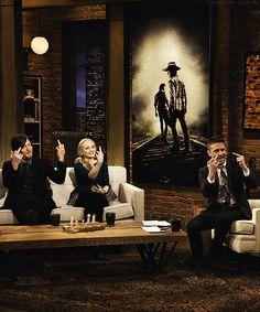 The Walking Dead - Norman Reedus, Emily Kinney, & Chris Hardwick on Talking Dead