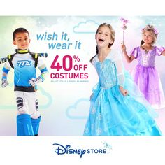 Disney Store : Extra 40% off Costumes  http://www.mybargainbuddy.com/disney-store-extra-40-off-costumes