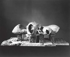 Frederick Kiesler. Endless House. Project, 1950–60. Exterior view of the model, 1958. Gelatin silver print, 8 x 10″. The Museum of Modern Art, New York. Department of Architecture and Design Study Center. Photograph: George Barrows.