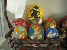 Easter egg candy containers. Germany.