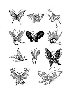 Chinese Butterfly Designs by Henna Sooq, via Flickr