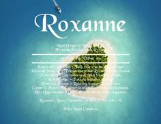 Roxanne Name Meaning - First Name Creations