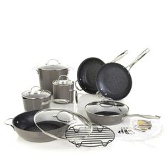 Curtis Stone DuraPan Nonstick 13-piece Chef's Cookware Set -Stone Gray * Find out more about the great product at the image link.