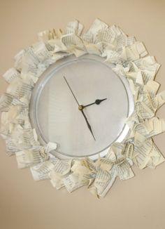Westbrooke Drive: Repurposed Book Clock