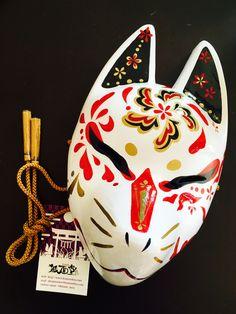 買った 狐面 Japanese fox mask