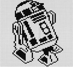 Pattern set number two! These are the gridded patterns I used for my double knit Star Wars blanket. Each pattern is 60 stitches wide and 71 tall and makes one square out of the nine total used in t…