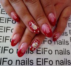 #christmasnails #redcolor #elfonails