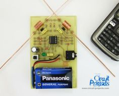 Cell Phone Detector LM358 2 antenna