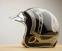 Brothers Daniel and Lance Busch are responsible for bringing us a bit of luxury with some Stylish Motorcycle Helmets, check out the graphics and metalwork. Motorcycle Helmet Design, Womens Motorcycle Helmets, Motorcycle Tank, Motorcycle Style, Vespa 125, Pinstriping, Scooters, Ruby Helmets, Custom Moto