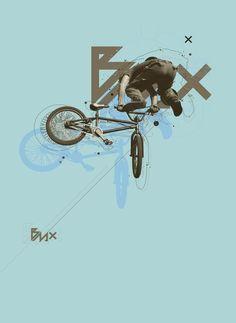 BMX by Anthony Neil Dart, via Behance