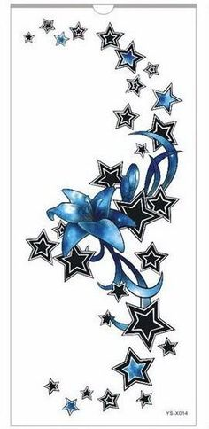 1pc new Chest tattoo stickers large flower shoulder arm Sternum tattoos sleeve body paint death skull rose Black Fire sexy women-Tattoo & Body Art-Enso Store-YSX001-Enso Store