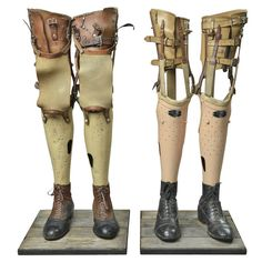 Two Rare Pair of Artificial Legs | From a unique collection of antique and modern curiosities at https://www.1stdibs.com/furniture/more-furniture-collectibles/curiosities/