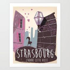 Strasbourg vintage travel poster by Nick's Emporium, $55.21. https://society6.com/product/strasbourg-vintage-travel-poster_print?curator=bestreeartdesigns