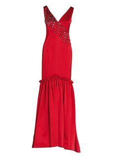 burda style, Schnittmuster zum Download - Ärmelloses, bodenlanges Abendkleid, das oben figurbetont und unten weit geschnitten ist