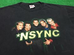 A personal favorite from my Etsy shop https://www.etsy.com/listing/477215776/free-shipping-vintage-90s-nsync-t-shirt
