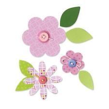 SIZZIX Stanzschablone Motiv Blumen & Blätter 2-7cm groß stanzen für BIG SHOT