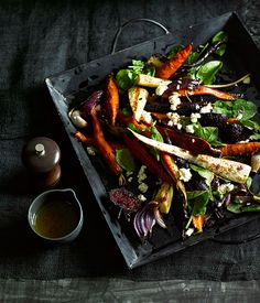 Roast root vegetables with sumac dressing - Gourmet Traveller