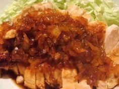 玉ねぎソースで格別♪胸肉のステーキ☆の画像