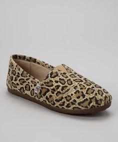 Take a look at this Brown Leopard Slip-On Shoe by Shoes of Soul on #zulily today!