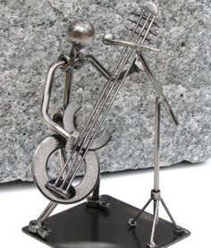 Bass Guitar Player and Singer Statue