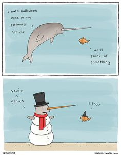 Narwhal Concerned For Halloween