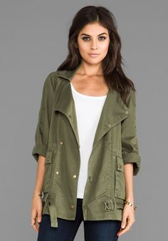Current/Elliott Infantry Jacket in Army