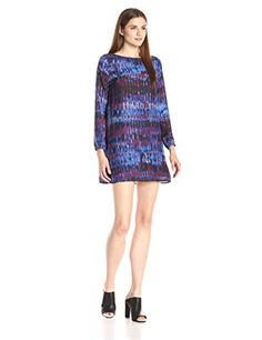 BB Dakota Womens Emily Night Sky Print CDC Dress Multi Small -- Read more reviews of the product by visiting the link on the image.